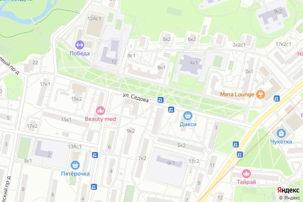 Ремонт телевизоров Улица Седова на яндекс карте