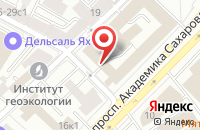 Схема проезда до компании Авиапромстрой в Москве