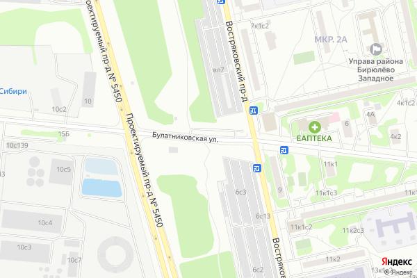 Ремонт телевизоров Улица Булатниковская на яндекс карте