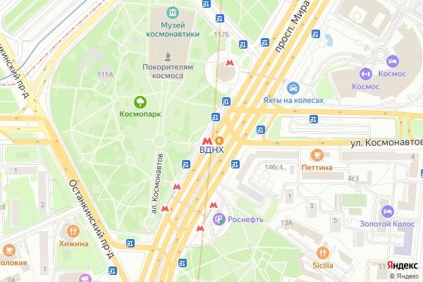Ремонт телевизоров Метро ВДНХ на яндекс карте