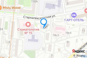 Однокомнатная квартира в Москве м. Алексеевская гор, улица Староалексеевская, 14к1, подъезд 1
