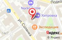 Схема проезда до компании Црт в Москве