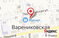 Схема проезда до компании Ювелирная мастерская в Варениковской