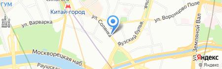 Золотая рыбка на карте Москвы