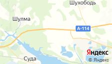 Отели города Нелазское на карте