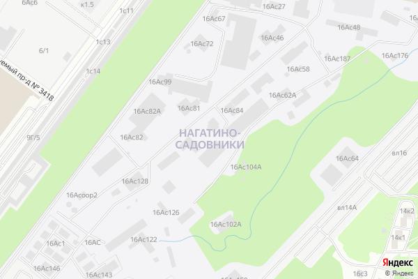Ремонт телевизоров Район Нагатино Садовники на яндекс карте