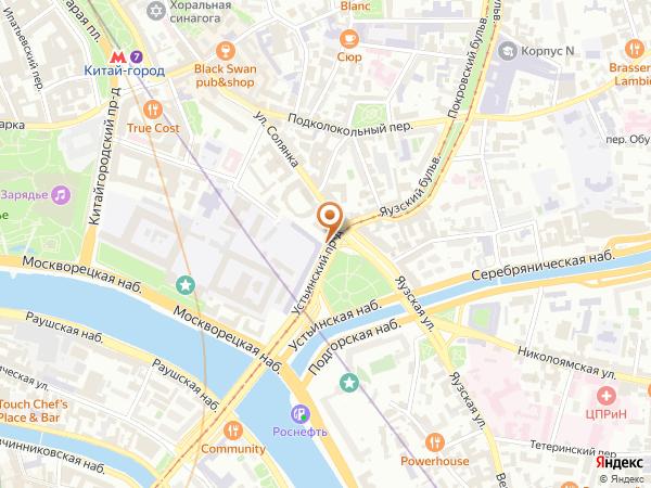 Остановка «Яузские ворота», Устьинский проезд (16121) (Москва)