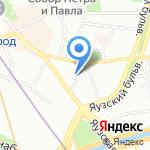 На Певческом на карте Москвы