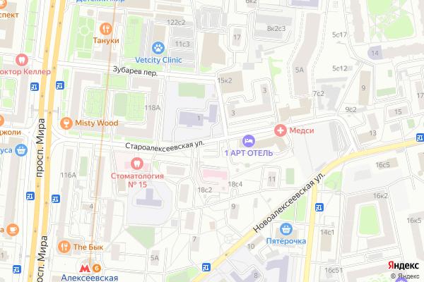 Ремонт телевизоров Улица Староалексеевская на яндекс карте