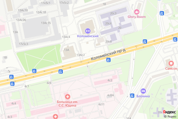 Ремонт телевизоров Коломенский проезд на яндекс карте