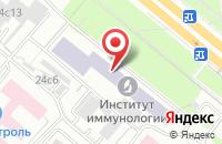 Схема проезда до компании Противораковое Общество России в Москве
