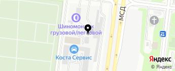FORSPEED Service на карте Москвы