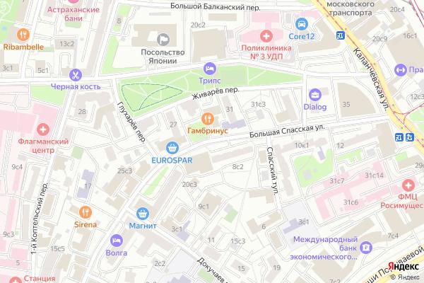 Ремонт телевизоров Улица Большая Спасская на яндекс карте