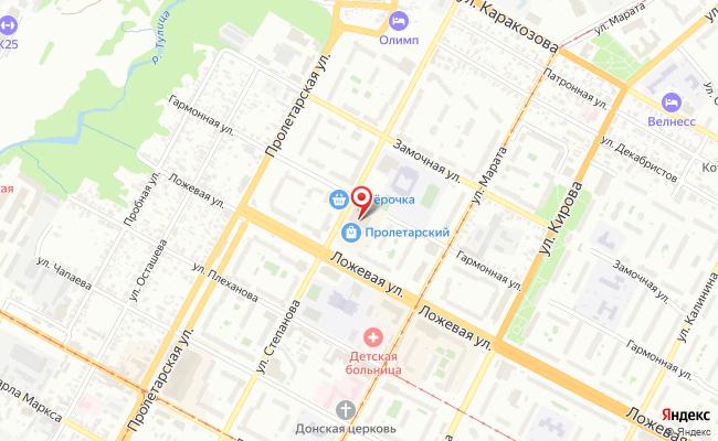 Карта расположения пункта доставки Тула Ложевая в городе Тула