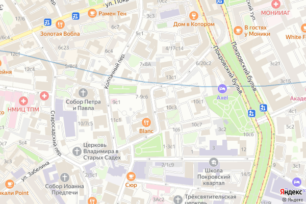 Ремонт телевизоров Хохловский переулок на яндекс карте