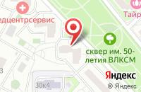 Схема проезда до компании Гентек в Москве