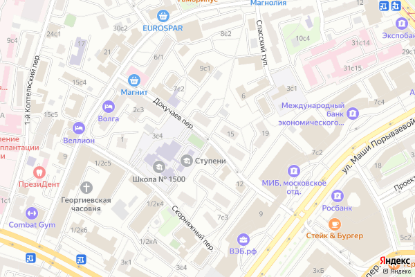 Ремонт телевизоров Докучаев переулок на яндекс карте