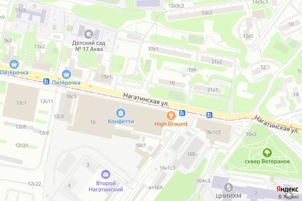 Ремонт телевизоров Улица Нагатинская на яндекс карте