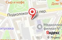 Схема проезда до компании Сказка в Москве