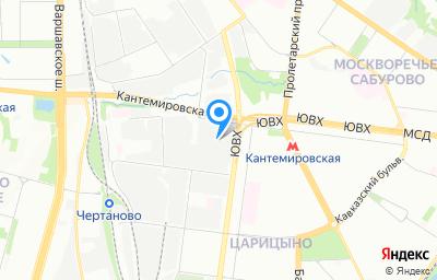 Местоположение на карте пункта техосмотра по адресу г Москва, ул Кантемировская, д 59А