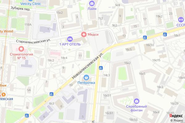 Ремонт телевизоров Улица Новоалексеевская на яндекс карте