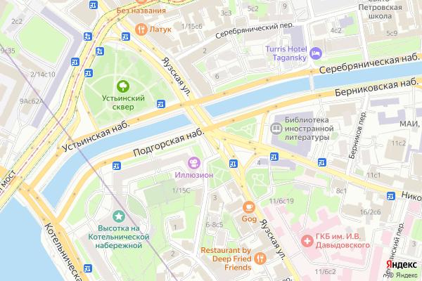 Ремонт телевизоров Улица Яузская на яндекс карте