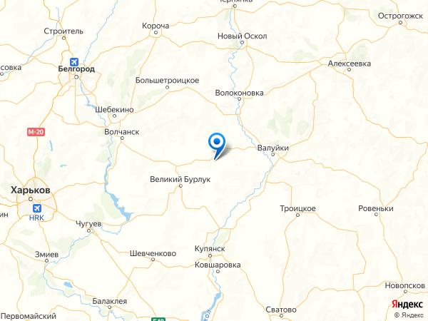 село Бутырки на карте