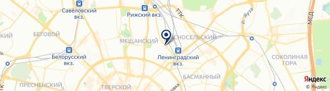 Расположение клиники GMS Clinic на Каланчевской