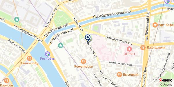 Берега на карте Москве