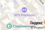 Схема проезда до компании X-Fit Чистые пруды в Москве