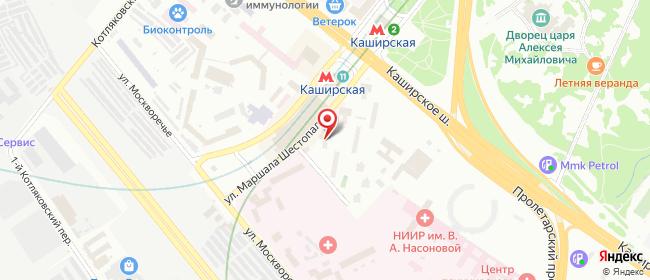 Карта расположения пункта доставки Москва Каширское шоссе в городе Москва
