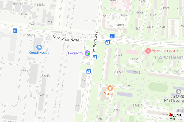 Ремонт телевизоров Улица Бехтерева на яндекс карте