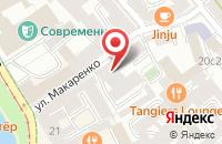 Схема проезда до компании 4Д в Москве