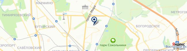 Расположение клиники «СМ-Клиника» на улице Ярославская