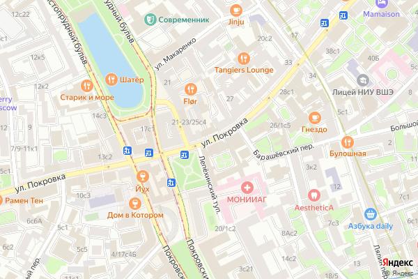 Ремонт телевизоров Улица Покровка на яндекс карте