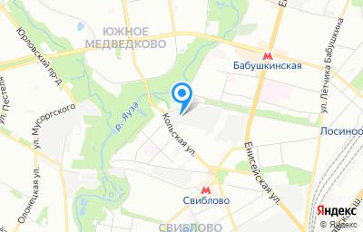 Местоположение на карте пункта техосмотра по адресу г Москва, ул Кольская, д 14 стр 13
