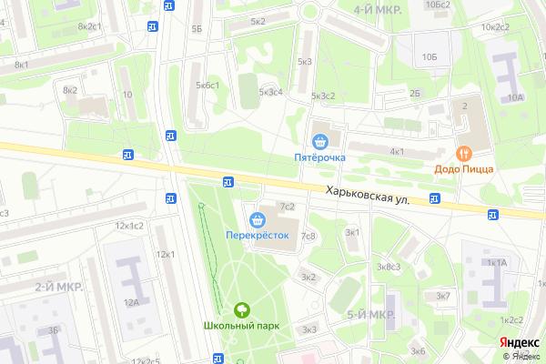 Ремонт телевизоров Улица Харьковская на яндекс карте