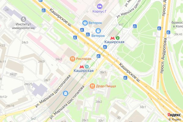 Ремонт телевизоров Метро Каширская на яндекс карте