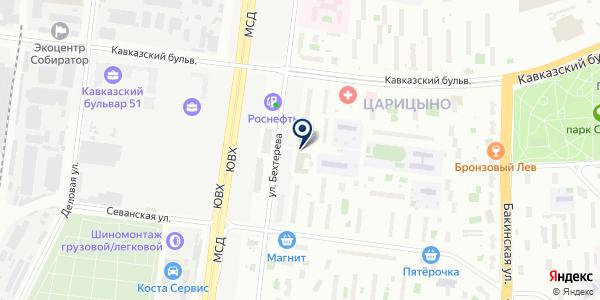 Магазин одежды на карте Москве