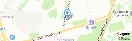 Дубовый лист на карте Москвы