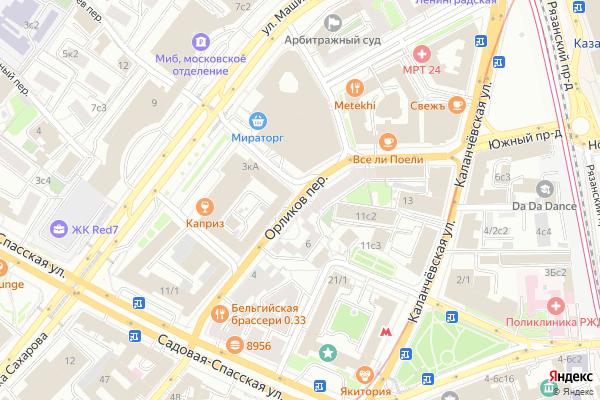 Ремонт телевизоров Орликов переулок на яндекс карте