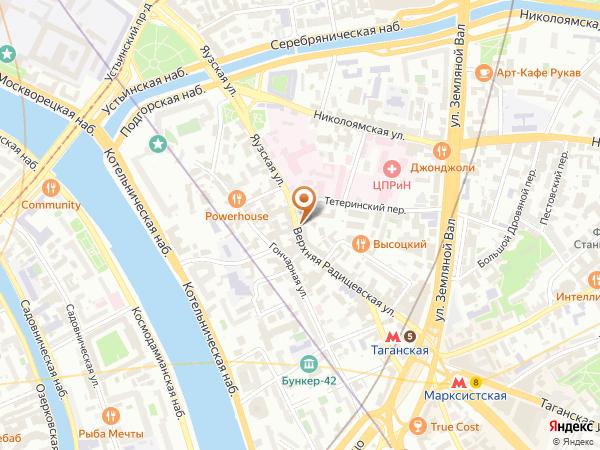 Остановка Тетеринский пер. в Москве