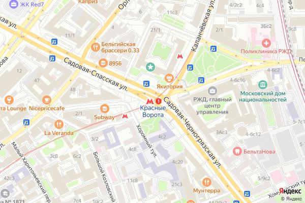 Ремонт телевизоров Метро Красные ворота на яндекс карте