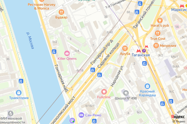 Ремонт телевизоров Гончарный проезд на яндекс карте