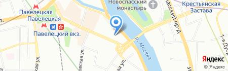 Терави на карте Москвы
