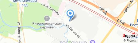 Леоново на карте Москвы