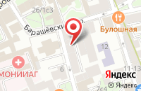 Схема проезда до компании Lazurka Mall в Москве