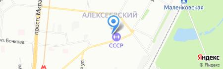 Альгена на карте Москвы