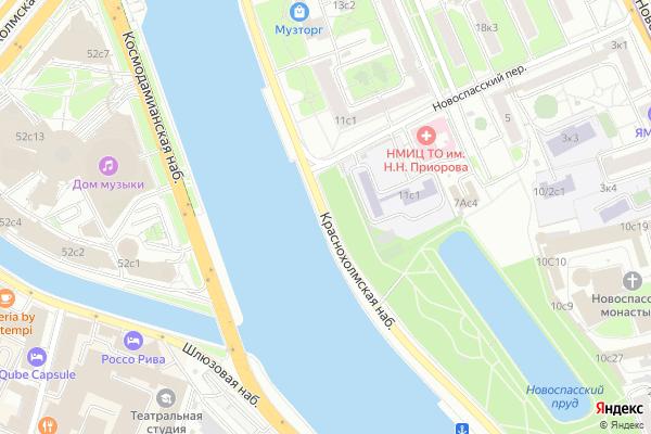Ремонт телевизоров Краснохолмская набережная на яндекс карте