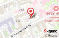 Схема проезда до компании Инферно в Москве